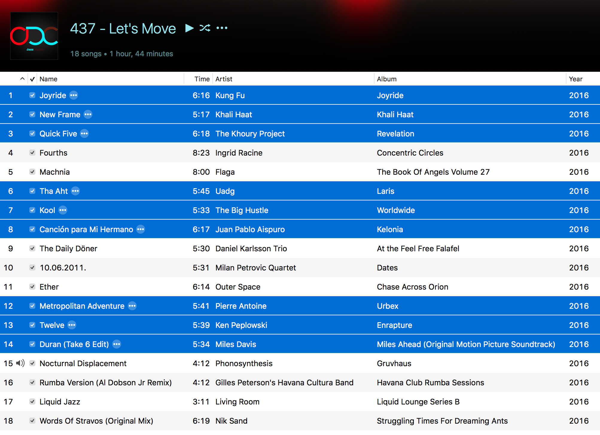 ODC #437 - Let's Move - Playlist