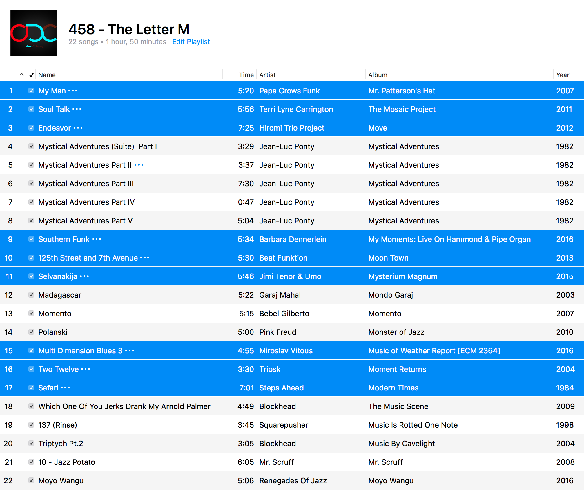 jazz-odc-458-the-letter-m-playlist